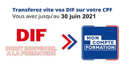 N'oubliez pas de saisir vos heures de DIF avant le 30/06/2021!